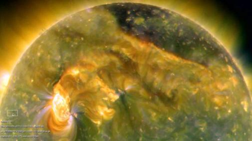 تمام حقوق این تصویر متعلق است به NASA/SDO و سایت http://www.spacescience.ir است.